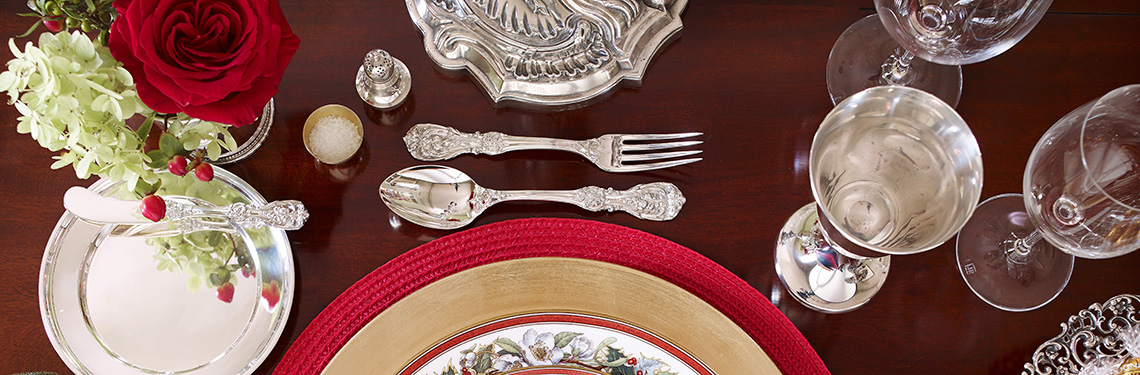 Sterling silver place setting