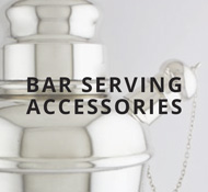 Sterling bar serving accessories