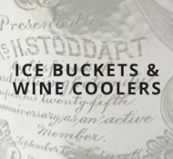 Sterling ice buckets and wine coolers
