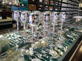 Sterling silver goblets - we buy silver