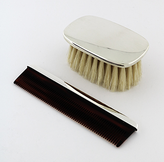 #69312 - Comb And Brush Sets by J. T. Inman CT #434 Boys Plain Brush 2pc