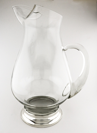 #94003 - Pitchers by All Makers WEB GLASS PITCHER  with Sterling Silver Base