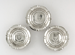 #93050 - Mint Dishes by All Makers ELGIN SILVER #793 set/3 'TOP BRIDGE SCORE'
