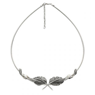 #81548 - Necklaces by Grainger Mc Koy NECKLACE FEATHER W/OMEGA #NKFE