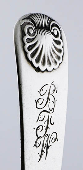 #93430 - Coin Silver by Maker MASTER BUTTER KNIFE FLAT c.1820 mono BFW/Maxwell