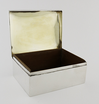#93931 - Silver Boxes, All Silver by All Makers BLACK,STARR & FROST #100 SQUARE mono ECJ As Is
