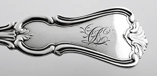 #93429 - Serving Piece by All Makers PASTRY SERVER, All Silver c.1845 mono QL