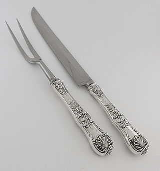 #81156 - English King by Tiffany ROAST SIZE CARVING SET 2 PC.