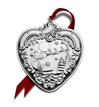 #92102 - Ornaments by Wallace 2019 GRANDE BAROQUE HEART 28th Edition