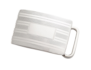"#11712 - Belt Buckles by C Thomae & Sons CT #T790 ET 1"" PIN STRIPE"