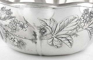 #93291 - Bowls by All Makers WHITING #1543E ACID ETCHED with Gold Wash  mono SSS