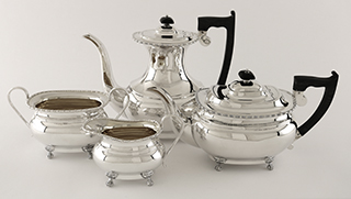 #94108 - 4-piece Tea & Coffee Sets by All Makers SHEFFIELD  C.1935 , EDWARD VINER