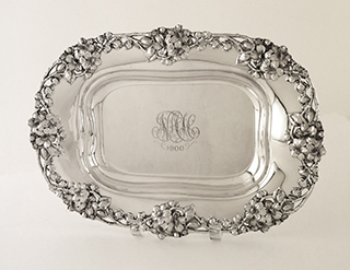 #93012 - Asparagus Dish by All Makers THEO. B. STARR #1572 without Liner mono NAC/1900