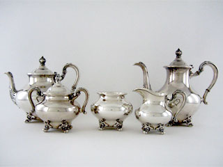 #20266 - 5-piece Tea & Coffee Sets by All Makers FISHER #2306 5PC MONTAIGNE