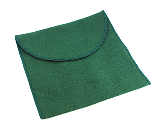 #34729 - Tarnish Resistant Bags by All Makers BB 6X6 JULEP BAG GREEN