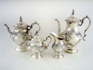 #35433 - 4-piece Tea & Coffee Sets by All Makers GOR #1001/1 4PC VICTOR.HAND CH