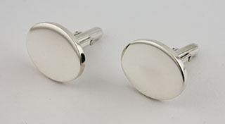 #52254 - Cufflinks by All Makers BOARDMAN #SSOVCL OVAL PAIR