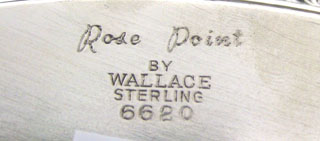 #54371 - Rose Point by Wallace TRAY SERV RND #6620 FLUTED GDR