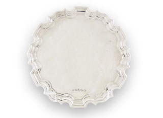 "#55575 - Tray, Carrs by Carrs of Sheffield CARRS#CPB6/W 6"" CHIPPE WAITER"