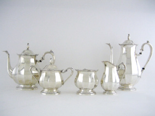 #62895 - 5-piece Tea & Coffee Sets by All Makers INTERN #14901-05 5PC FLUTED/BD