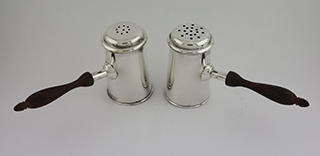 #65816 - Salt & Pepper Shakers by All Makers BLACK STARR GORHAM with WOOD