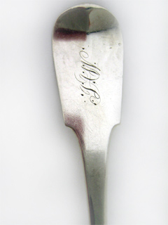 #66678 - Coin Silver by Maker Stauffner & Harley MUSTARD LADLE