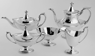 #77448 - 5-piece Tea & Coffee Sets by All Makers GORHAM #11301-11305 C1922