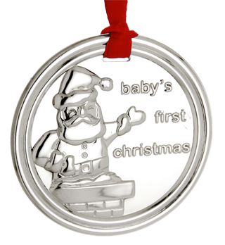 #78068 - Ornaments by Carrs of Sheffield BABY'S 1ST SANTA #XM12
