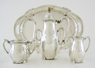 #78993 - Tea Set-Demitasse by All Makers LEBKUECHER & CO. #03664 3PC W/
