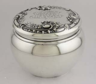 #83679 - Louis XIV Old Style by Dominick & Haff DRESSER JAR #85 ROUND MONO MCC