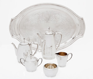 #8515 - 5-piece Tea & Coffee Sets by All Makers REEDBA #755 5 PC. TOWN&CTRY