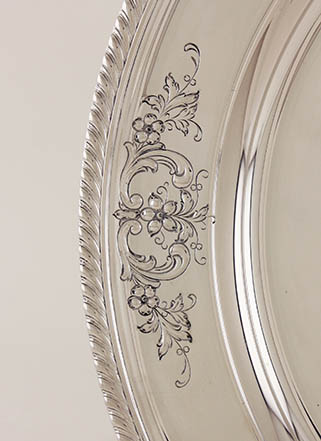 #86549 - Tray, Serving by All Makers GORHAM #215/4 Gadrn/Floral*BSM