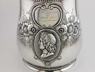 #87515 - Baby Cups-Antique by All Makers COIN- W&H w/Acanthus Hndl mono