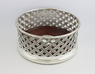 #87547 - Wine Coasters by All Makers F.Howard #D107 Basket Weave