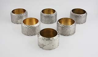 #87743 - Salt Cellars by All Makers WHITING #201 WOVEN Set/6 *EWK