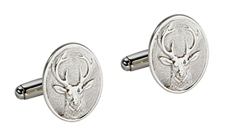 #89335 - Cufflinks by Carrs of Sheffield #CUFF020-SS STAG POST CUFFLINK