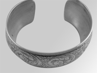 #9933 - Bracelets by C Thomae & Sons CT #T3224 WIDE ENGRAVED CUFF